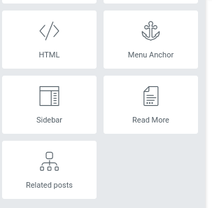 """""""Related Posts"""" element in the list of elements. Just drag it to the appropriate place in your post"""